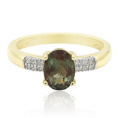 9K Green Tibetanite Gold Ring