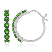Russian Diopside Silver Earrings