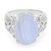 Blue Lace Agate Silver Ring