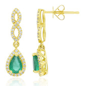 18K AAA Zambian Emerald Gold Earrings (CIRARI)