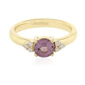 18K Pink Burmese Spinel Gold Ring
