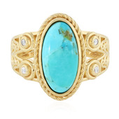 Kingman Blue Mojave Turquoise Silver Ring (Memories by Vincent)