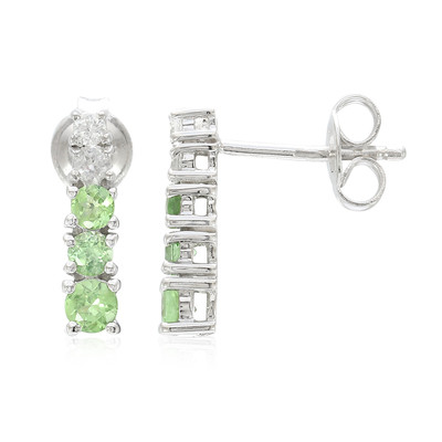 Tsavorite Silver Earrings