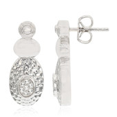 White Topaz Silver Earrings (MONOSONO COLLECTION)