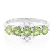 AAA Green Sapphire Silver Ring