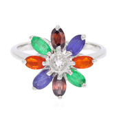 Fire Opal Silver Ring (Cavill)