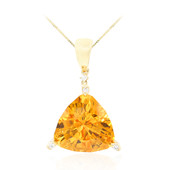 14K Citrine Gold Necklace