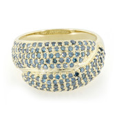 9K Royal Blue Diamond Gold Ring