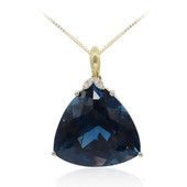 14K London Blue Topaz Gold Necklace