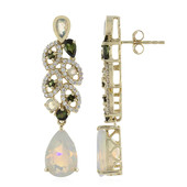 14K AAA Welo Opal Gold Earrings (de Melo)