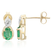 9K Nova Era Emerald Gold Earrings