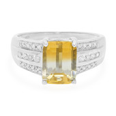 Bi Colour Citrine Silver Ring
