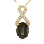 18K Nigerian Neon Tourmaline Gold Necklace