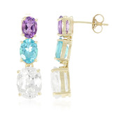 9K Preah Vihear Zircon Gold Earrings