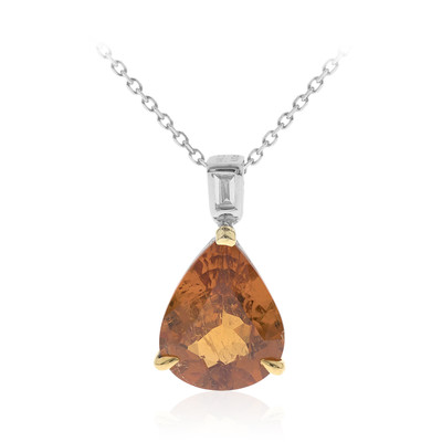 14K Mandarin Garnet Gold Necklace (CIRARI)
