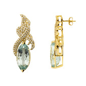14K AAA Brazilian Aquamarine Gold Earrings (de Melo)