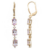 14K Pink Morganite Gold Earrings