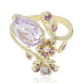9K Rose de France Amethyst Gold Ring