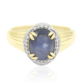 9K Blue Star Sapphire Gold Ring