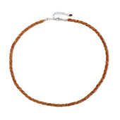 Spessartite Silver Necklace