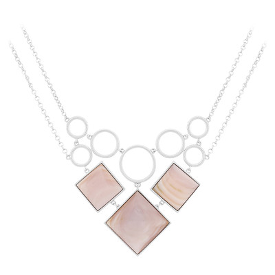Mother of Pearl Silver Necklace