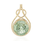 9K Green Amethyst Gold Pendant (PHANTASIA)