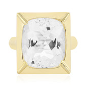 White Quartz Silver Ring (MONOSONO COLLECTION)