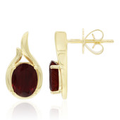 9K Red Tibetanite Gold Earrings