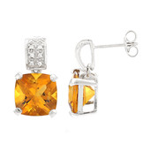 Mandarin Citrine Silver Earrings