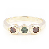 9K Forest Green Diamond Gold Ring