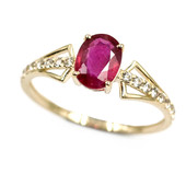 9K Mozambique Ruby Gold Ring