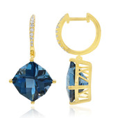 14K London Blue Topaz Gold Earrings