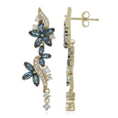 9K London Blue Topaz Gold Earrings (Adela Gold)