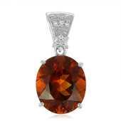 Imperial Red Citrine Silver Pendant (Cavill)
