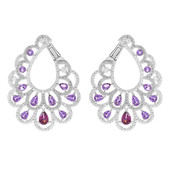 Rhodolite Silver Earrings (Dallas Prince Designs)