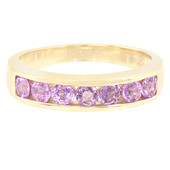 9K Unheated Ceylon Purple Sapphire Gold Ring
