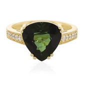 18K Nigerian Neon Tourmaline Gold Ring
