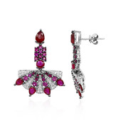 18K Ruby Gold Earrings