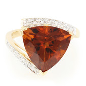 18K Imperial Red Citrine Gold Ring