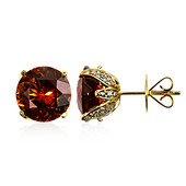 18K AAA Spessartite Gold Earrings (de Melo)