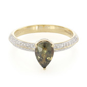 18K Unheated Sapphire Gold Ring