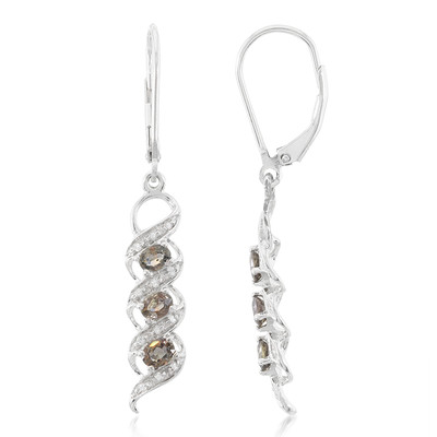 Unheated Colour Change Sapphire Silver Earrings