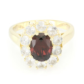 9K Red Zircon Gold Ring