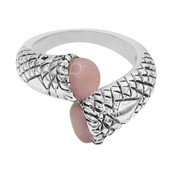 Pink Opal Silver Ring