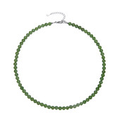 Nephrite Silver Necklace