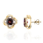 14K AAA Raspberry Rhodolite Gold Earrings (de Melo)