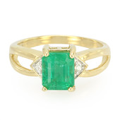 18K Ethiopian Emerald Gold Ring (AMAYANI)