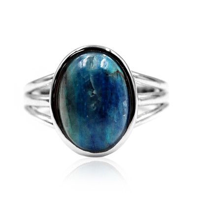 Azurite Malachite Silver Ring