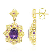 Zambian Amethyst Silver Earrings (Memories by Vincent)