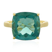 9K Belgian Teal Fluorite Gold Ring